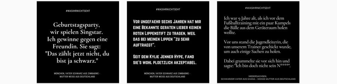 Instagram Statements #wasihrnichtseht