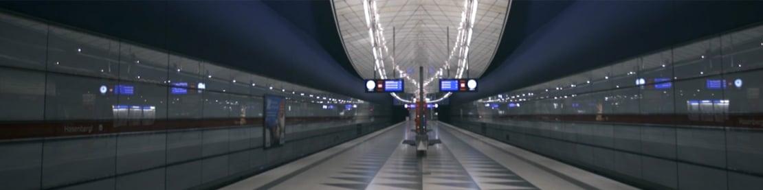 Aufnahme einer leeren U-Bahn Station