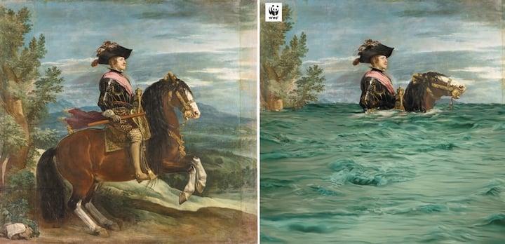 Berühmtes Gemälde abgewandelt vom Original