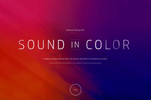 Website Sound In Color
