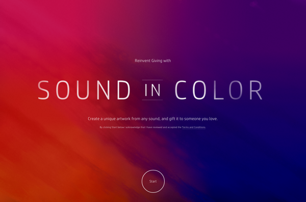 Website Sound In Color