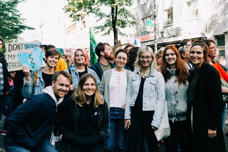 Gruppenfoto JUNGMUT Klimastreik