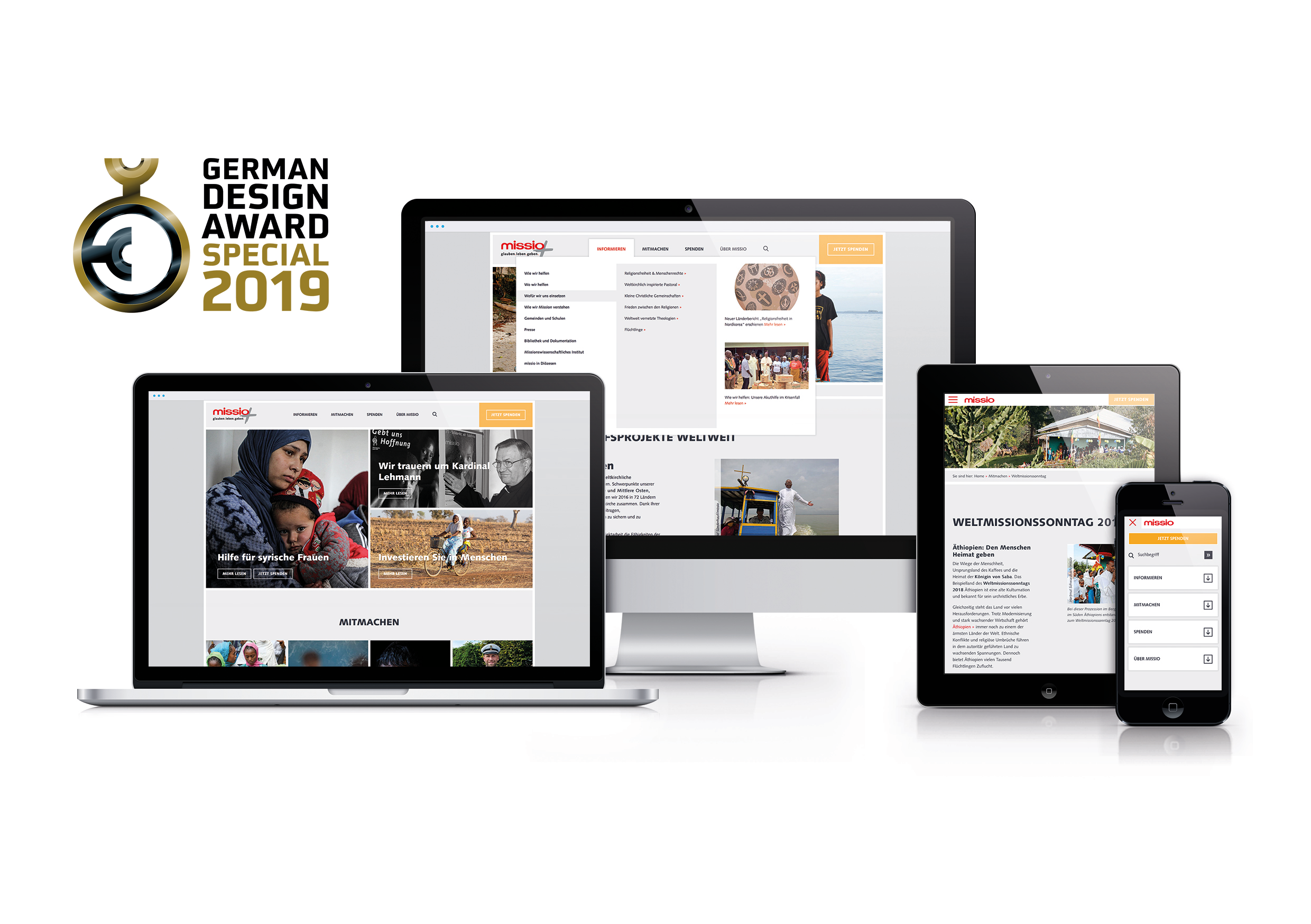 jungmut-german-design-award-missio-website