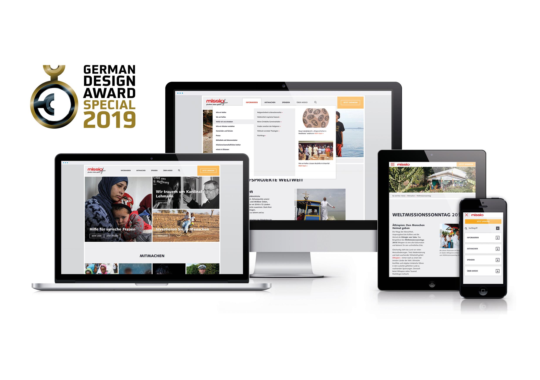 jungmut-german-design-award-missio-website