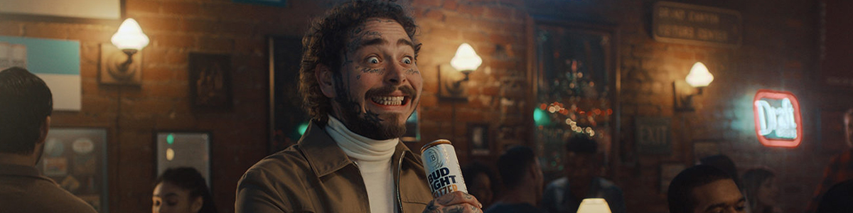 Post Malone in einem Bud Light Werbespot