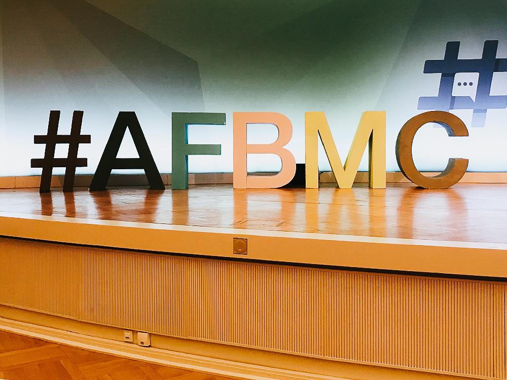 #AFBMC Logo Aufsteller